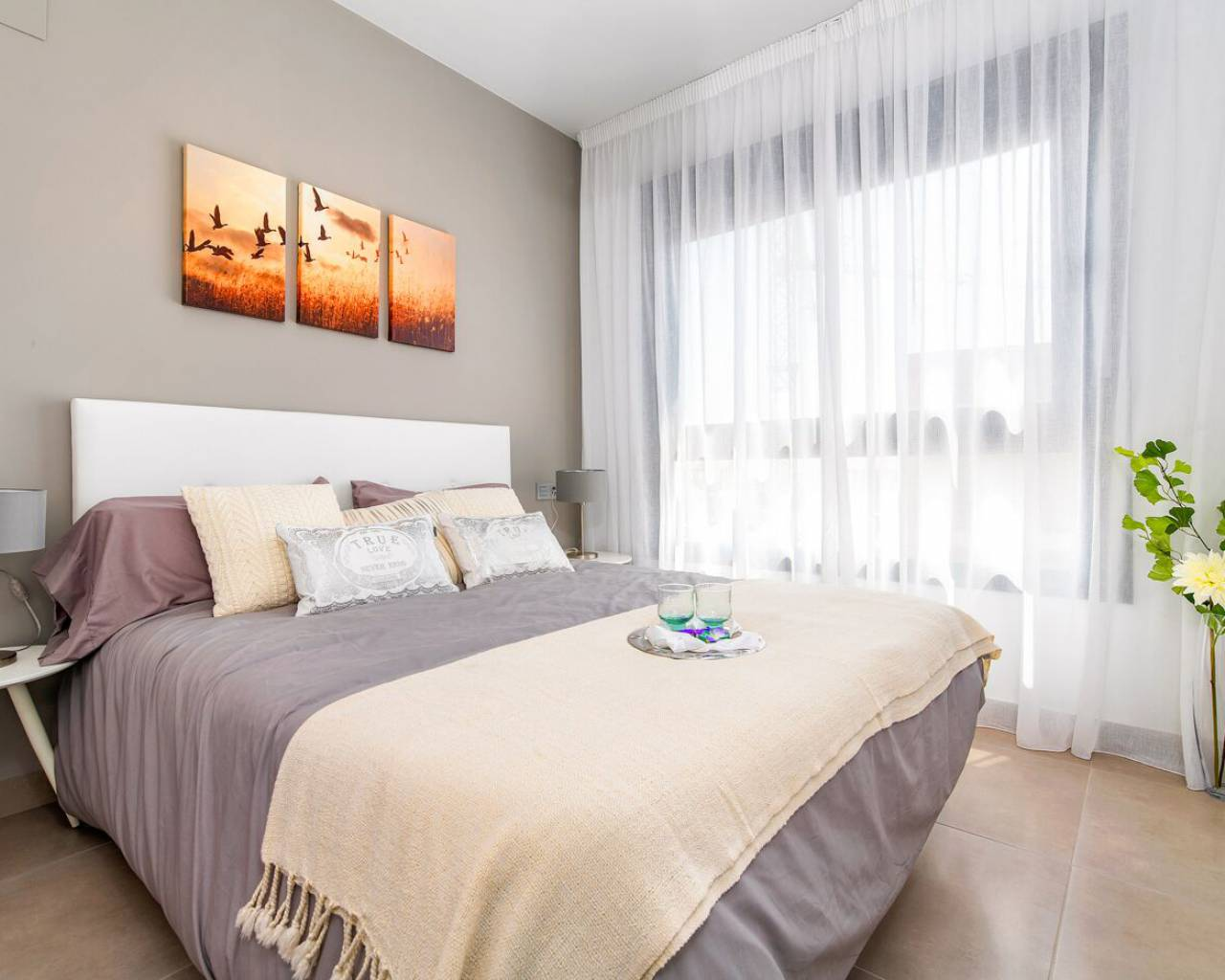 large bedroom in new apartments pilar de la horadada for sale with zebra homes real estate agents guardamar del segura